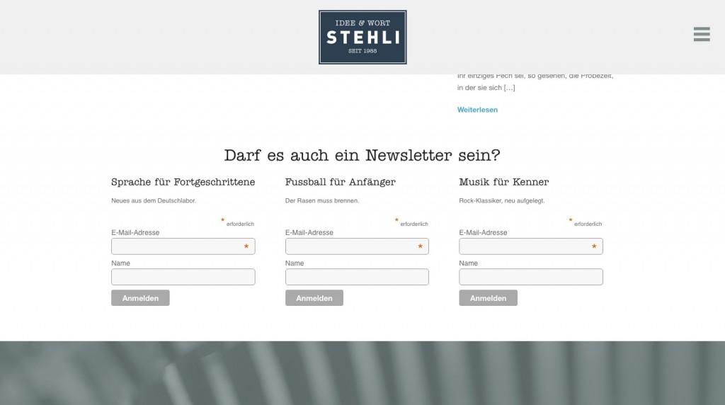 stehli-newsletterintegration